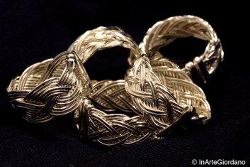 Anello celtico fili metallici intrecciati 2