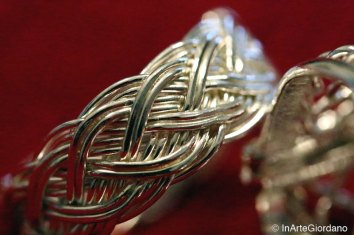 Anello celtico fili metallici intrecciati 4
