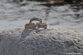 Anello celtico fili metallici intrecciati 5