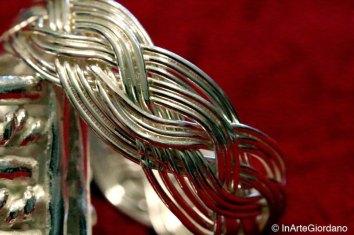 Anello celtico fili metallici intrecciati 6