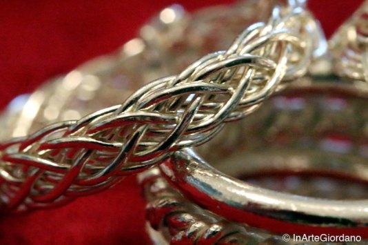 Anello celtico fili metallici intrecciati 7