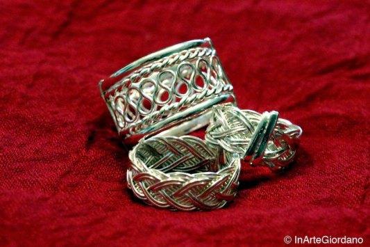 Anello celtico fili metallici intrecciati 8