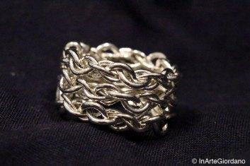 Anello fili metallici intrecciati 2