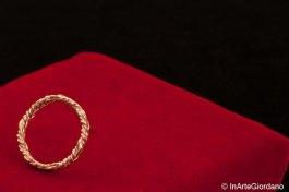 Anello fili metallici intrecciati 4