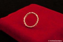 Anello fili metallici intrecciati 7